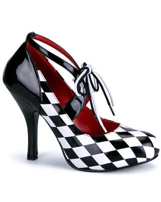 Harlequin Black And White Womens Shoes