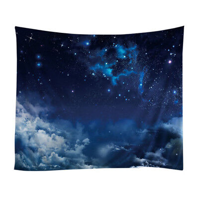 3X(Wall Hanging Tapestry with Romantic Night Sky Pictures Home Decorations Q3I4