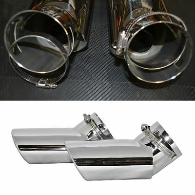 1 Pair * Car Exhaust Tail Pipe Silver OVAL TIP Fit For RANGE ROVER SPORT DIESEL