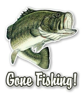 Largemouth bass fish fishing cabin decor picture holder business gone fishing largemouth bass fish decal sticker die cut reheart Image collections