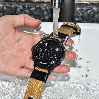 Waterproof Men's Luxury Watch Round Stainless Steel Analog Quartz Wristwatches