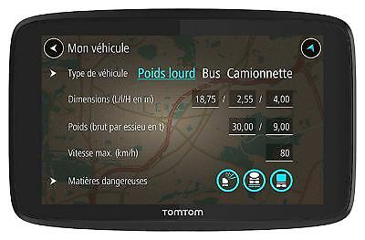 "GPS Tomtom GO Professional 6200 (6"") - Cartographie Europe 48 à Vie, Trafic 1an"