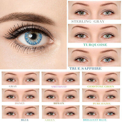 Women Colored Contact Lenses 0 Degree Yearly Use Makeup Eyewear Commode