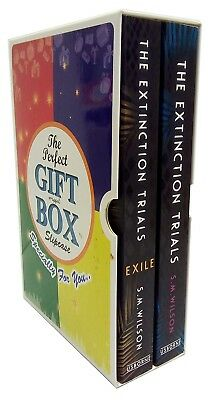 S.M. Wilson Collection Extinction  Exile Trials 2 Books Gift Wrapped Box set New