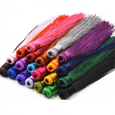 """Lot of 10PCS 12CM (4.72"""") Satin Silky Tassels - Crafts Sewing Decoration Costume"""