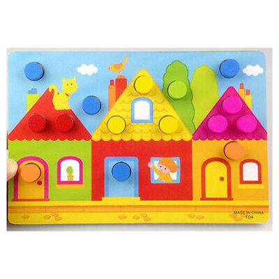Color Cognition Board For Children Early Learning Puzzle Wooden Toy Color Game