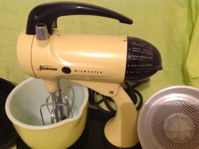 Vintage Sunbeam Yellow Mixmaster A12 Model