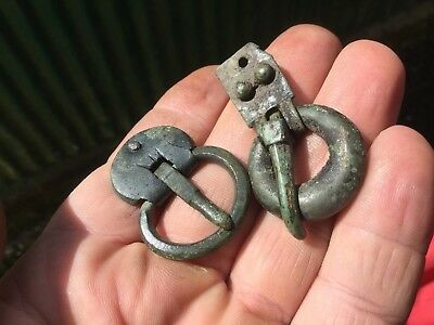 Two Ancient/Early Medieval Bronze Buckles