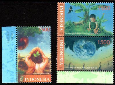 INDONESIASG 3353-52010Enviromental Protection  Set of 3MNH
