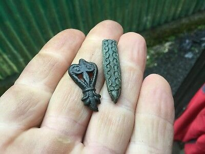 Medieval Zoomorphic Strap End And Mount