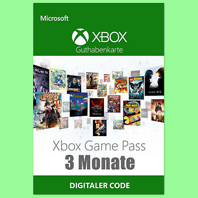 Xbox Game Pass 3 Monate Mitgliedschaft Karte Card Code Xbox one XGP 3 month Key