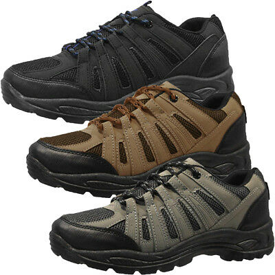 Lace Up Trail Walking Hiking Shoes Trainers  Mens Size
