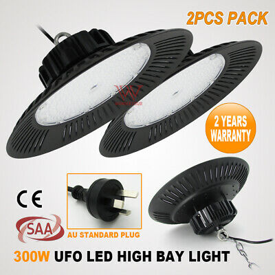 2 x UFO LED 400W HIGH LOW BAY FACTORY WORK SHOP DOWN LIGHT WAREHOUSE COMMERCIAL