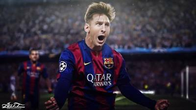 """TY07637 Lionel Messi - FCB Football Star Soccer 24""""x14"""" Poster"""