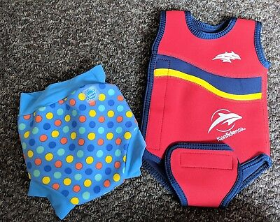 Konfidence Babywarma Baby Wetsuit And Splash About Swim Nappy 0-6 Months
