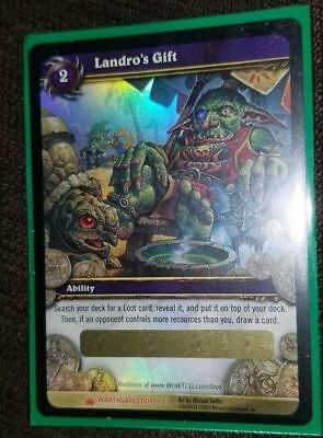 WOW Landro's Gift LOOT CARD UNSCRATCHED Ologram