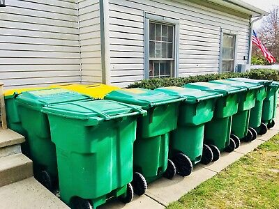 $300+ TOTER 96 Gallon w/2 Wheels + Lid Residential Trash+Waste+Recycle Cart/Can