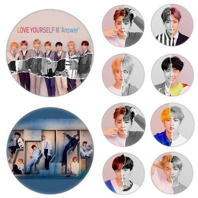 KPOP BTS Love Yourself answer Brooch Pin Badge Button For Clothes Hat Decoration