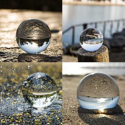 Clear Glass Crystal Ball Photography Photo Props Decorative Ball Gifts 50-100mm