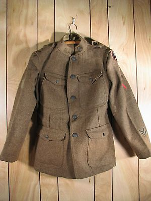 WWI US Army Expeditionary Forces Wool Uniform Tunic Coat Musician