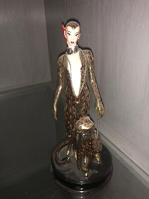 Franklin Mint House of Erte Leopard Figurine Limited Edition