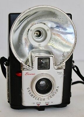 Vtg Kodak Brownie Starflash Camera Original Box