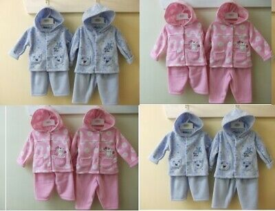 Babywear Girls 3Pc Suit Tracksuit Outfit Clothing Hooded Jacket Top 0-9 Months