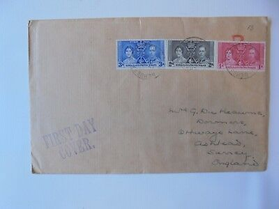 Somaliland Protectorate King George VI 1937 Coronation First Day Cover