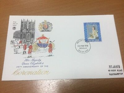 1978 Isle Of Man Coronation Anniversary Stuart First Day Cover