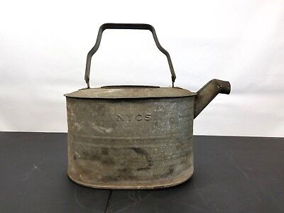 Vintage Antique New York Central System NYCS Railroad Train Oil Watering Can