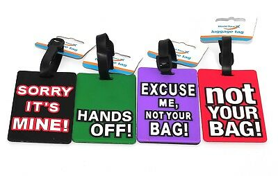 1x Rubber Silicone Luggage Tags Labels Suitcase Bag Baggage Name Address ID Tag