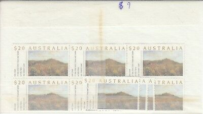 Australia postage stamps with gum face value $180   (9 x $20)