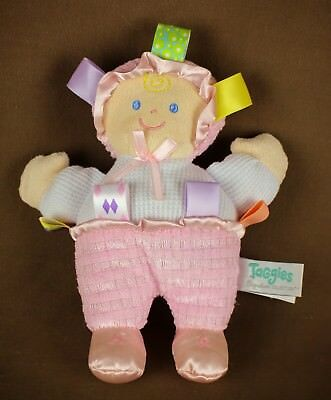 Taggies Signature Collection pink * Plush Baby Doll * lovey security toy sensory