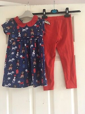 Girls Next 2 Piece Outfit Dog Design Age 5-6