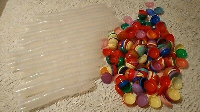 2 Inch Empty Acorn Capsules from AA - 298 Pieces - Multi colored