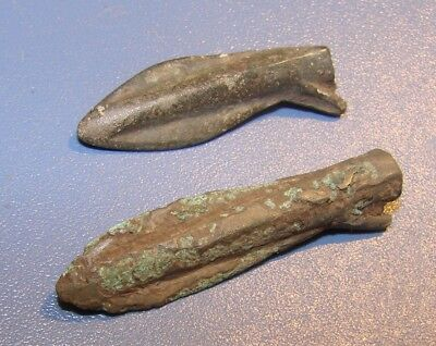 Scythian Vikings arrowheads 7 - 2 nd century BC bronze. RARE. ORIGINAL