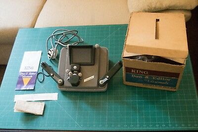 king duo-8 editor view mate. UK plug, original instructions, great condition