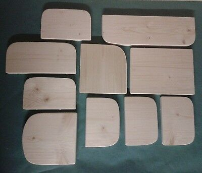 10 x KILN DRIED PINE WOOD SHELF/LEDGE 4 CAGE CHINCHILLA,DEGU,RAT,HAMSTER,BIRD