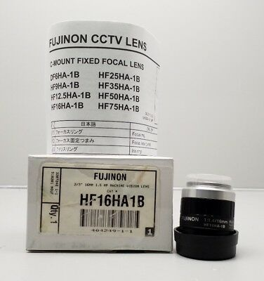 New Fujinon Hf16Ha-1B 1:1.4/16Mm Camera Lens Fujifilm