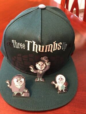 Disney World Haunted Mansion Hat Hitchhiking Ghosts Three Thumbs Up NWT