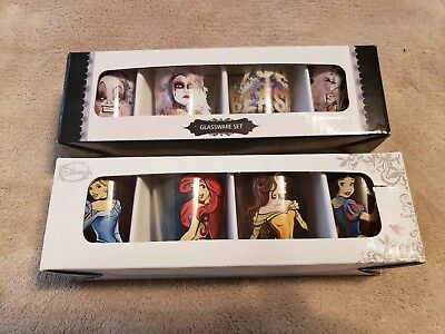 Disney Villains and Princesses Shot Glasses Set  Disney Licensed Brand new