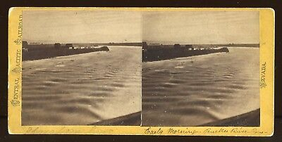 Reno Nevada Truckee River Stereoview Photograph Alfred Hart Cprr Railroad