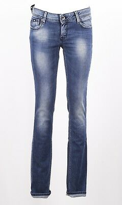 Jeans Gas Donna Britty Body Fit W 582  Slim Stretch Lavaggio Invecchiato Medio
