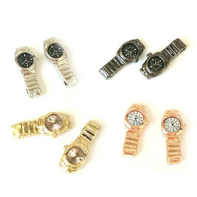 1:12 Miniature Watch Multiple Colour Dollhouse Decor Accessories Kids Toy FAUS