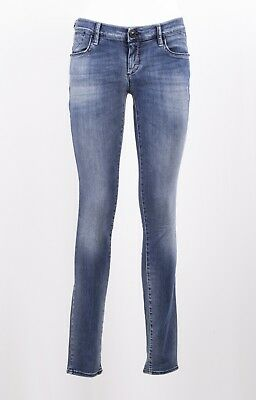 Jeans Gas Donna Samu Skinny Fit Denim Super Stretch Invecchiato Scuro