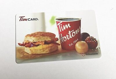 2016 TIM HORTONS Gift Card ZERO $ Balance SANDWICH & TIMBITS (USA), No Value