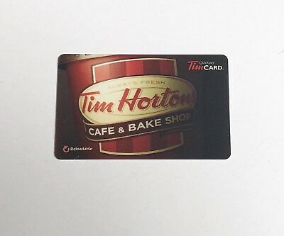2014 TIM HORTONS Gift Card ZERO $ Balance CAFE & BAKE SHOP CUP (USA), No Value
