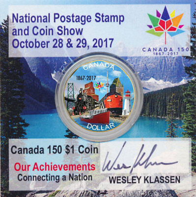 2017 Canada 150 COLOURED LOONIE Autograph Special Coin Card Holder