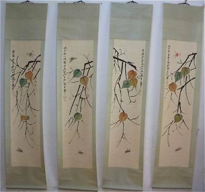 lot of 4 CHINESE SCROLL   20 th century