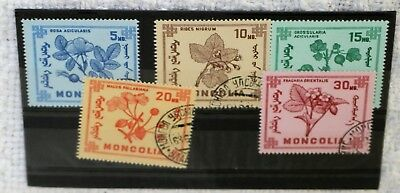 Mongolian Stamps On Stock Card